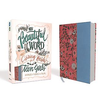 NIV Beautiful Word Coloring Bible for Teen Girls Leathersoft PinkBlue  Hundreds of Verses to Color by Zondervan