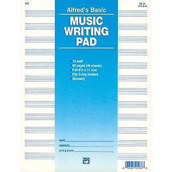 Manuskript pad 12 Stave 80 Pg av Other Alfred Music