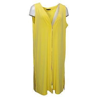إيمان العالمية شيك المرأة الفاخرة منتجع منفضة سترة صفراء 685922