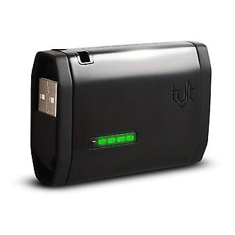 Tylt Zumo Portable Battery Pack 1500mAh with Built-In Micro USB Cable - Black