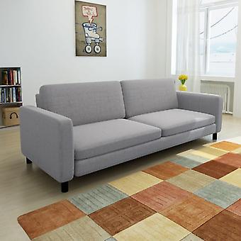vidaXL 3 canapé-lit en tissu gris clair