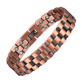 Bangles For Men Copper Bracelet Retro Magnetic Energy Bracelets Double Row