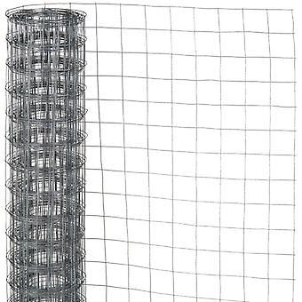Natur mesh wire firkantet fletning 0,5x5 m 13 mm galvaniseret stål