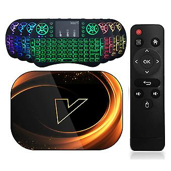 Vontar X3 TV Box Media Player Android 9.0 Kodi with Wireless RGB Keyboard - Bluetooth 4.0 - 8K - 4GB RAM - 32GB Storage