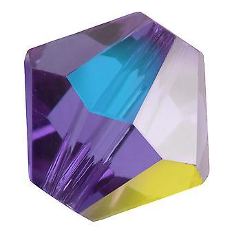 Preciosa Tšekin kristalli, Bicone Bead 6mm, 24 Pieces, Tanzanite AB