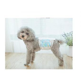 Dog Safety Pants Teddy Dog Panties Diapers Pet Diapers Heat Pants(M)
