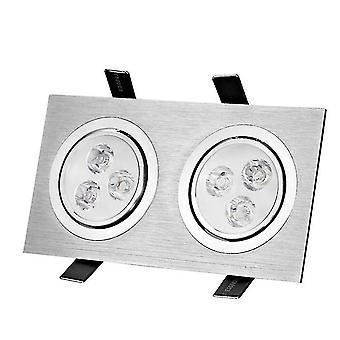 led innebygd belysning - dobbel punkt lys grille lys ledet firkantet tak