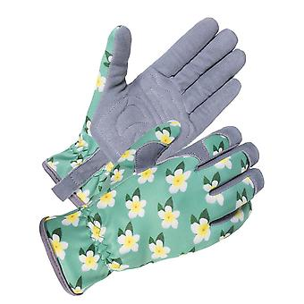 Women's Garden Stab-resistant Gardening Gloves, Deerskin Suede And Breathable Leather