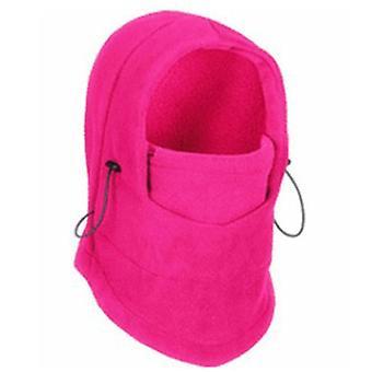 Winter thermische fleece en ski gezichtsmasker, nek warmer capuchon hoeden (roze)