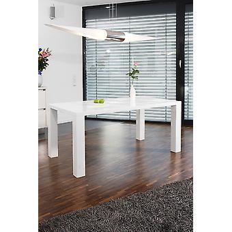 Tomasso's Cuneo Dining Table - Modern - White - Mdf - 160 cm x 90 cm x 76 cm