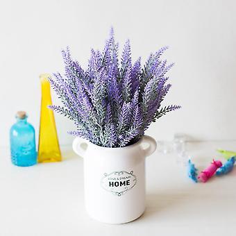 1 Paquete de arreglos de lavanda artificial para la decoración del hogar (verde)