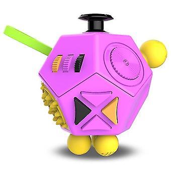 Edc anti stress fidget giocattoli per autismo adhd sollievo ansia con 12 lati di texture (C3)