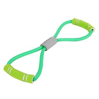 Sport- och fitness stretch motståndsslingband för träning och yoga (Grön)