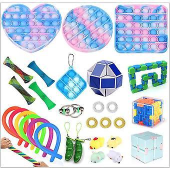 Sensory Decompression Toy Set Puzzle Diy Combination Toys -18