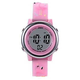 Children's Cartoon Watch Waterproof 3d Silicone Children's Watch-flamingo