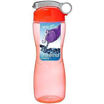 Sistema Hourglass Drink Bottle 645ml, Orange
