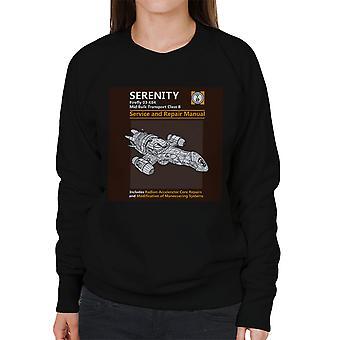 Serenity Service And Repair Manual Firefly Women's Sweatshirt