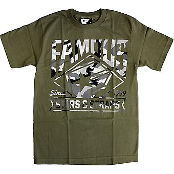 Famous Stars and Straps Boh MLB T-Shirt Green Camo