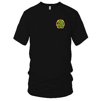 US Army - kemiska skola Dragon broderad Patch - Elementis Regamus Proelium Mens T Shirt