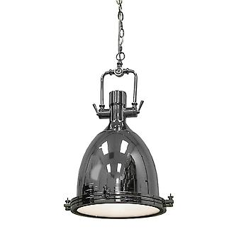 Classic Chrome Finish Pendant Lamp 16 Inch Diameter
