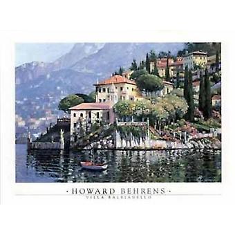Villa Balbianello Poster Print von Howard Behrens (35 x 27)
