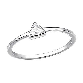 Triangle - 925 Sterling Silver Jewelled Rings - W30555X