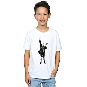 AC/DC Jungs Angus Young ausgeschnittene T-Shirt