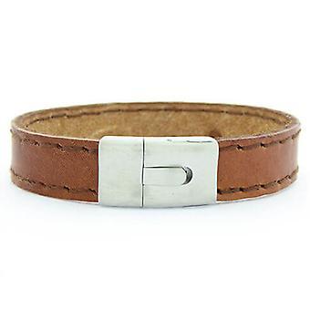 Christian Leather marrone braccialetto