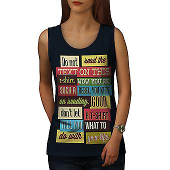 Metin Funny Women NavyTank Top | Wellcoda
