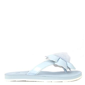 UGG Poppy Sky Blue Flower Flip Flop