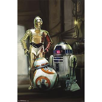 Star Wars The Force herää - droidit Juliste Tulosta