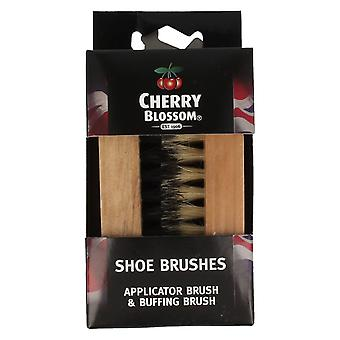 Cherry Blossom Shoe Brush Set - Applicator Brush and Buffing Brush