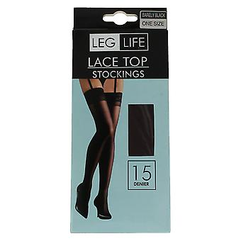 Ladies Leg Life Lace Top 15 Denier Stockings