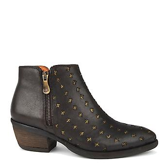 Kanna Borba Brown Leather Ankle Boot