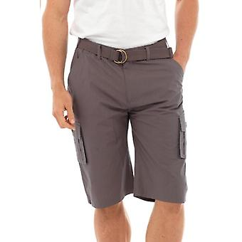 Mens Casual Plain 3/4 Length Shorts Adjustable Belt Various Colours & Sizes