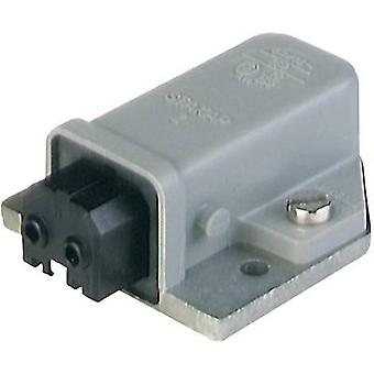 Hirschmann STAKAP 2 Mains connector STAKAP Series (mains connectors) STAKAP Socket, horizontal mount Total number of pins: 2 + PE 16 A Grey 1 pc(s)
