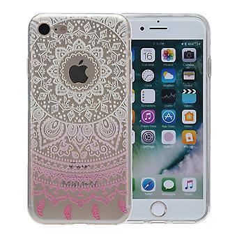 Henna kattaa Apple iPhone XS case suojakotelo silikoni Sun white