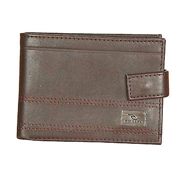Rip Curl Clip Wallet With CC, Note and Coin Sections ~ Reflect All Day brown