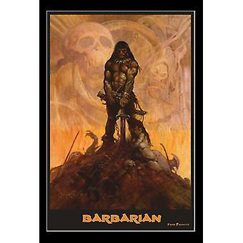 Barbarian - By Frank Frazetta Poster Print