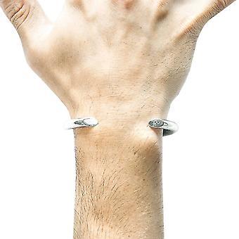 Âncora e tripulação Sansão redondo Maxi pulseira - prata