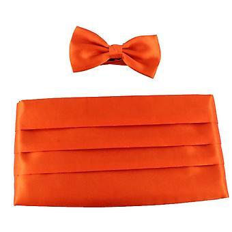 Knightsbridge dassen strikje en Cummerbund Set - oranje