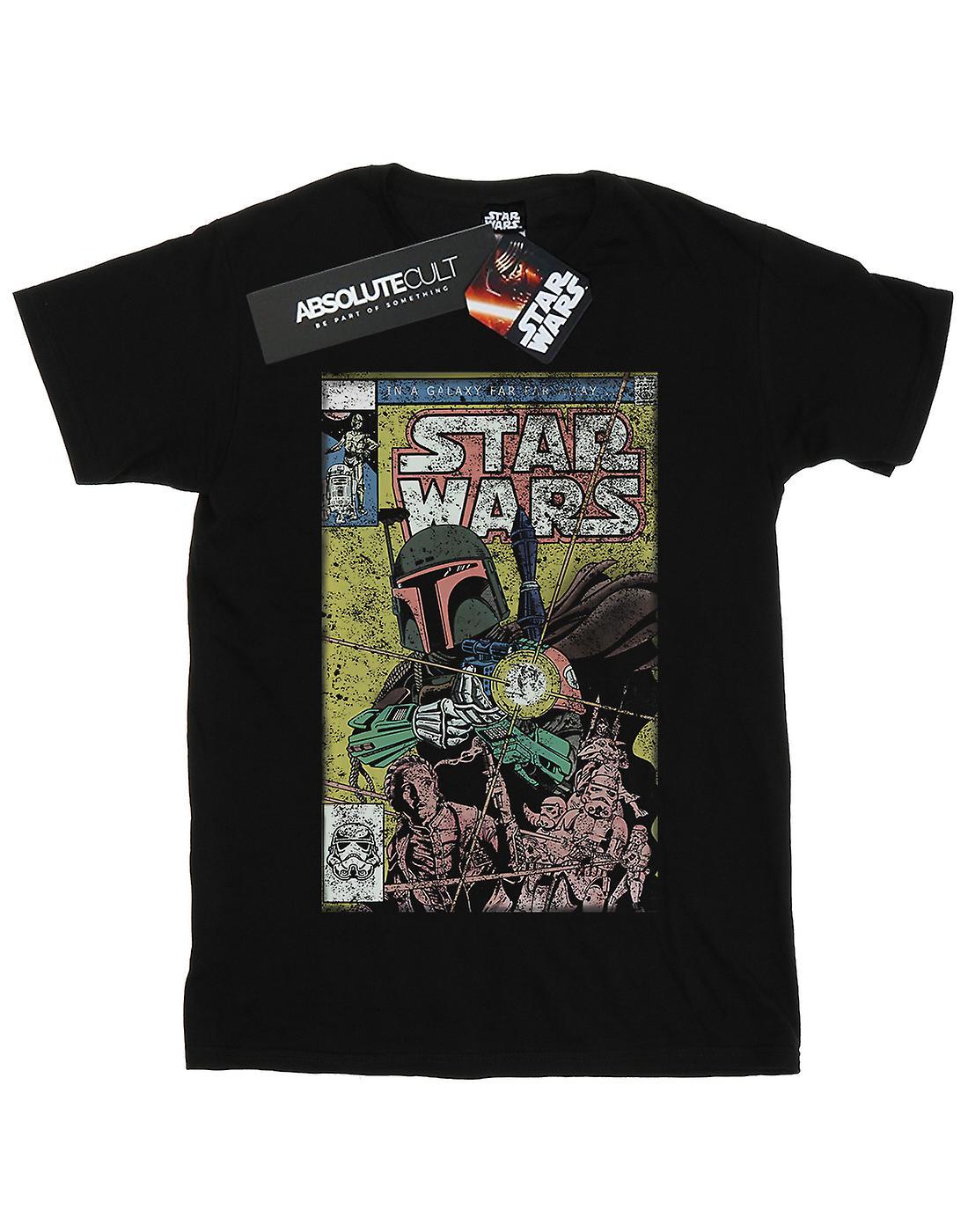 Star Wars Women's Boba Fett Comic Boyfriend Fit T-Shirt