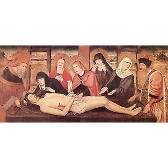 The Lamentation of Christ, Jaime Huguet, 80x40cm