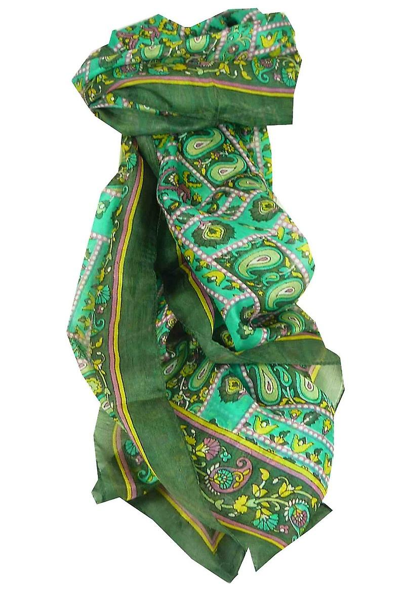 Mulberry Silk Traditional Long Scarf Chenab Sage by Pashmina & Silk