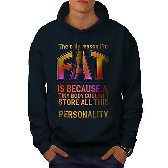Funy Fat Happy Men NavyHoodie | Wellcoda