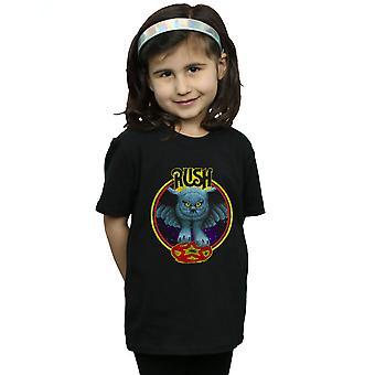 Rush meisjes vliegen door de nacht cirkel T-Shirt