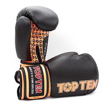 Topp ti kampen boksehansker svart/Orange