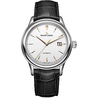Maurice Lacroix Les Classiques Black Leather Strap Automatic Men's Watch