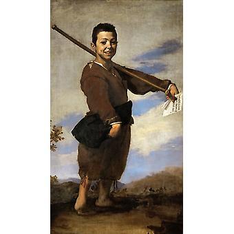 De jongen met de Clbfoot, Jusepe de Ribera, 60x34cm
