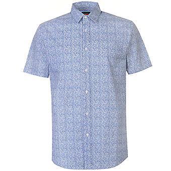 Pierre Cardin Ditsy korte mouw Shirt Casual Herenbovenkleding